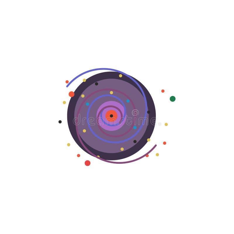 Icono coloreado vía láctea Elemento del ejemplo del espacio Las muestras y el icono de los símbolos se pueden utilizar para la we libre illustration