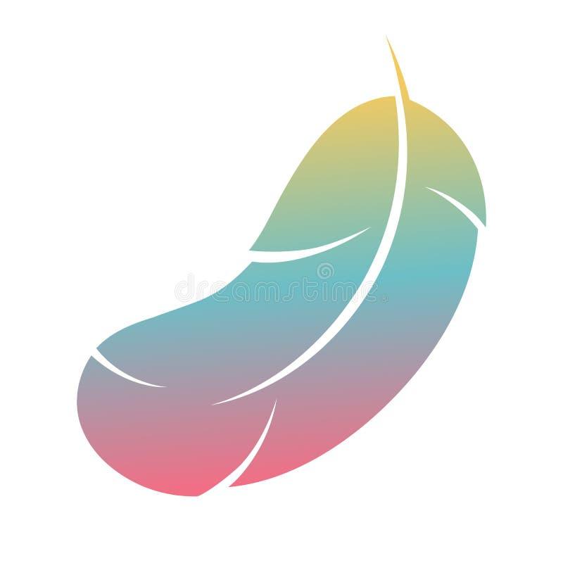 Icono colorido de la pluma en el fondo blanco fotografía de archivo libre de regalías