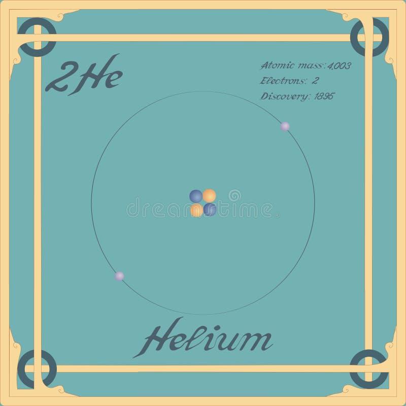Icono colorido del helio ilustración del vector