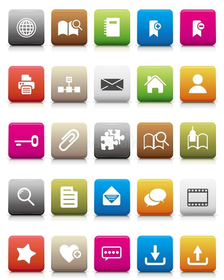 Icono colorido -- Internet y blogs ilustración del vector