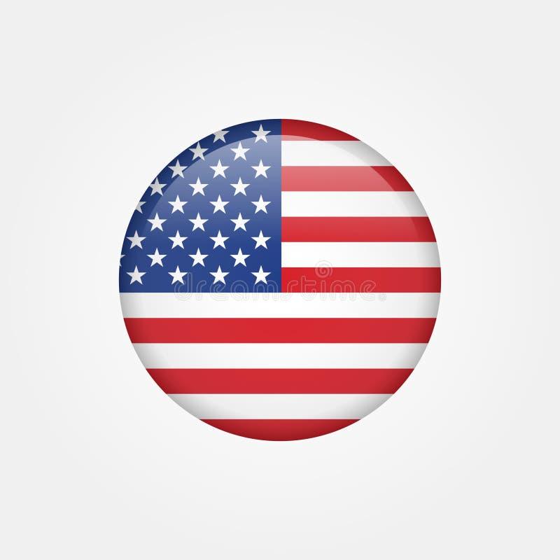 Icono común 5 de la bandera americana del vector ilustración del vector