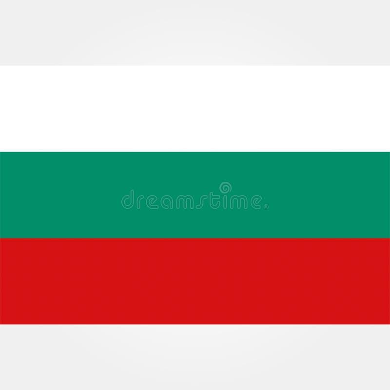Icono común 1 de la bandera de Bulgaria del vector ilustración del vector