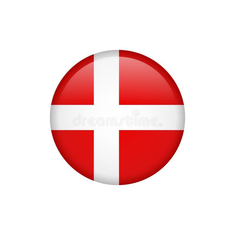 Icono común 5 de la bandera de Dinamarca del vector libre illustration