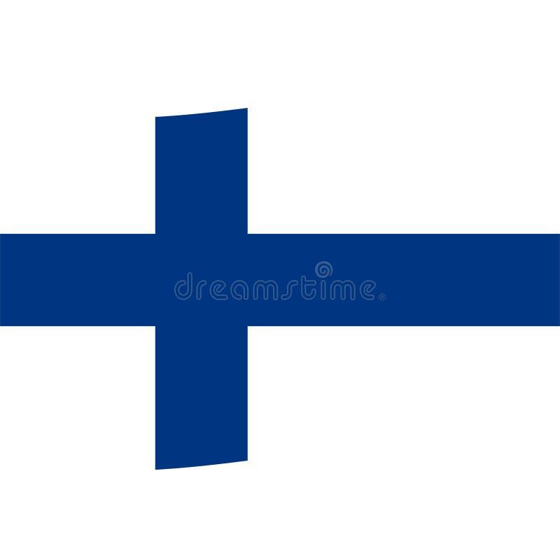 Icono común 2 de la bandera de Finlandia del vector libre illustration