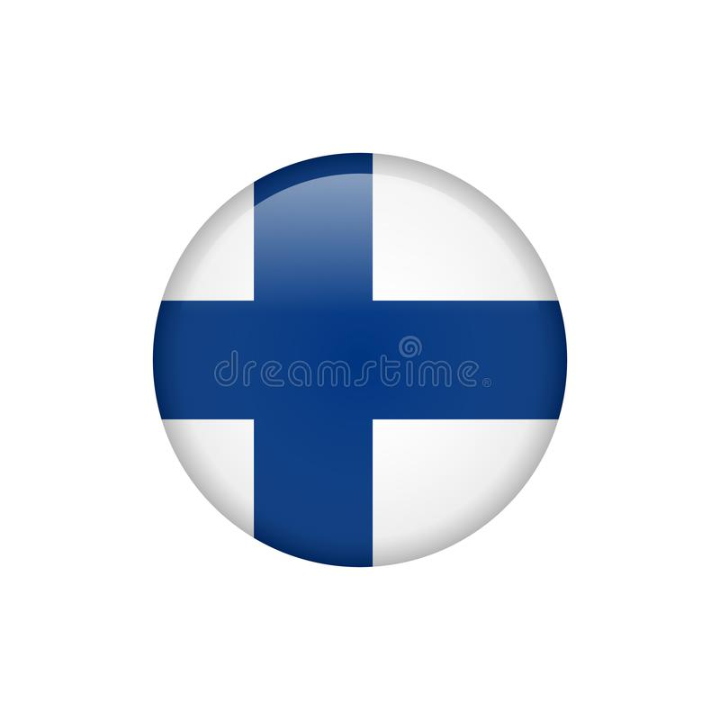 Icono común 5 de la bandera de Finlandia del vector ilustración del vector