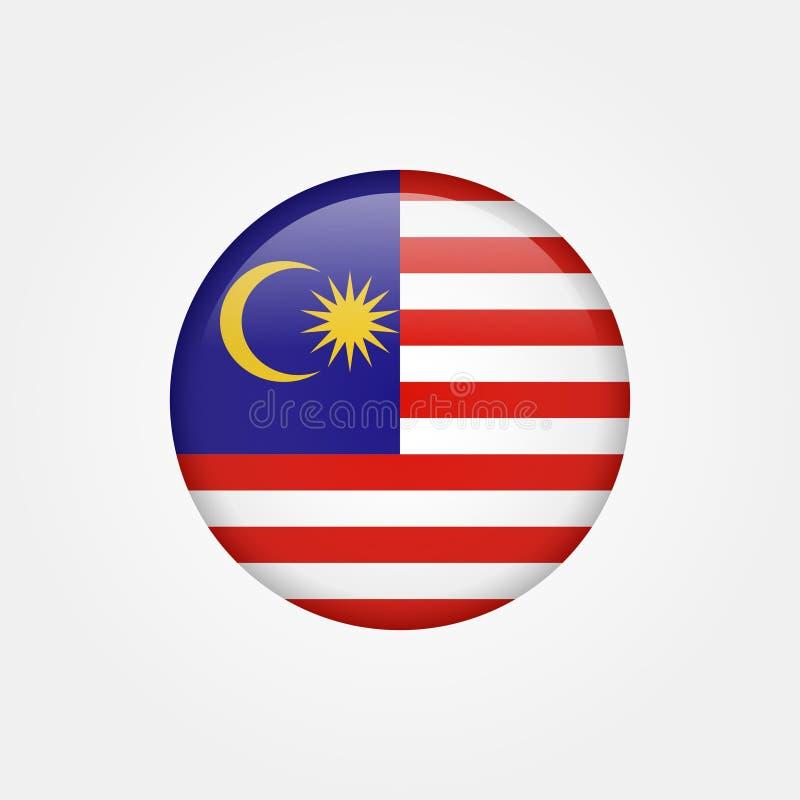 Icono común 5 de la bandera de Malasia del vector stock de ilustración
