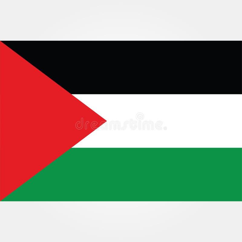 Icono común 1 de la bandera de Palestina gaza del vector libre illustration