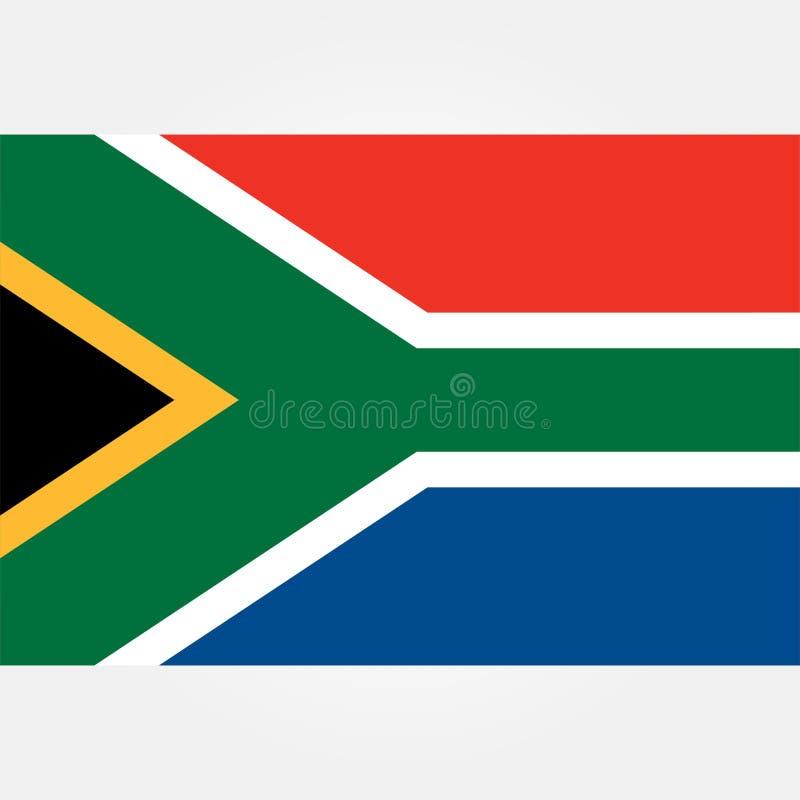 Icono común 1 de la bandera de Suráfrica del vector ilustración del vector