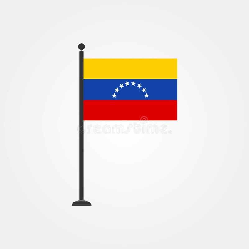 Icono común 3 de la bandera de Venezuela del vector libre illustration