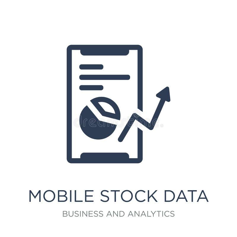 Icono común móvil de los datos Ico común móvil de los datos del vector plano de moda libre illustration