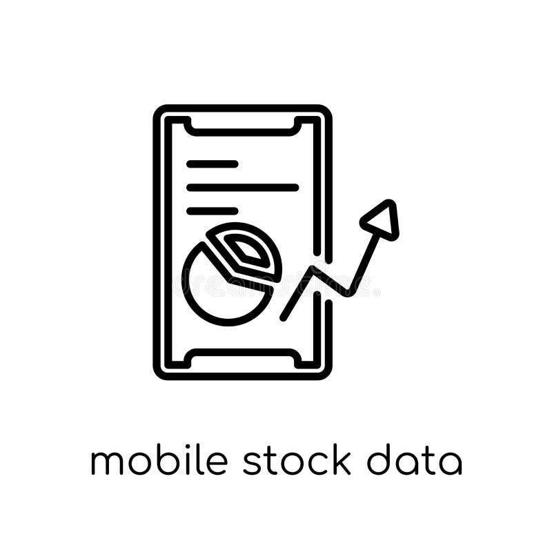 Icono común móvil de los datos Móvil linear plano moderno de moda del vector libre illustration