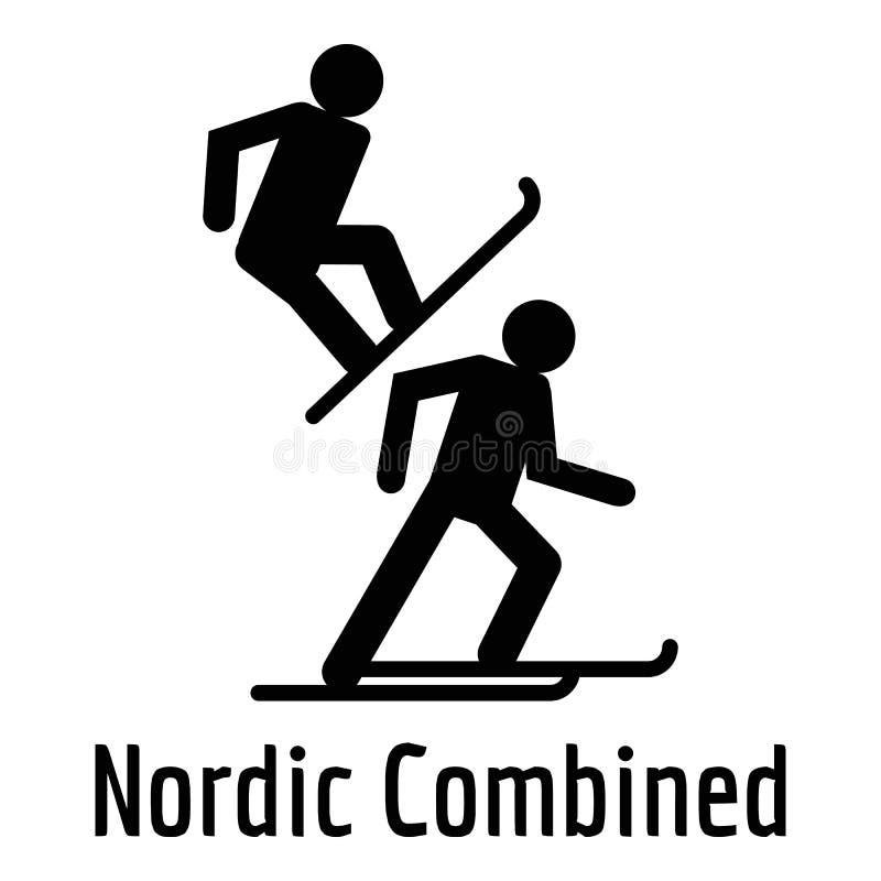 Icono combinado nórdico, estilo simple ilustración del vector