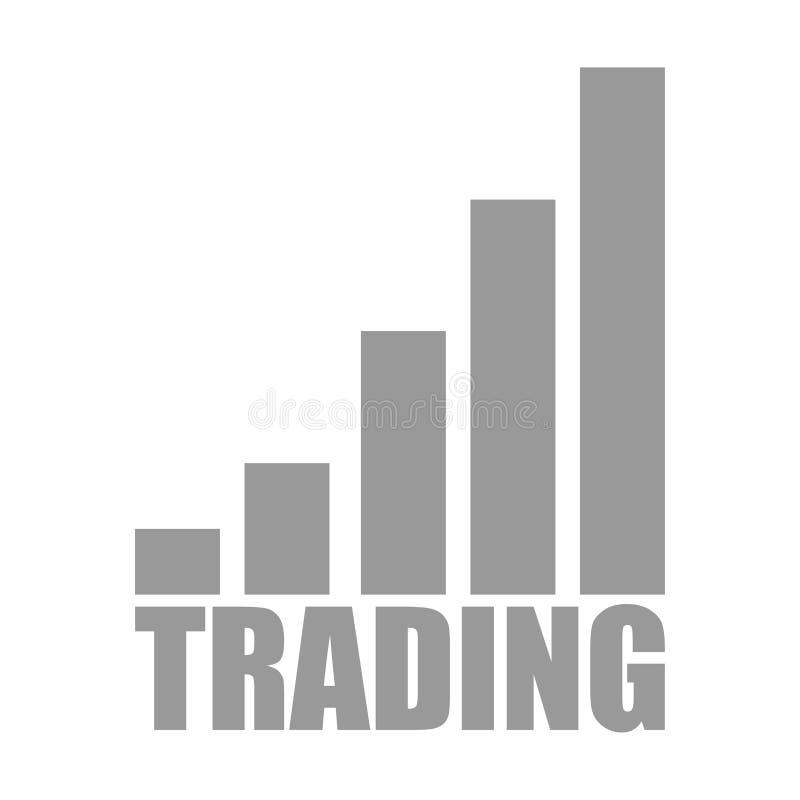 icono comercial con blanco gris de cinco pasos stock de ilustración