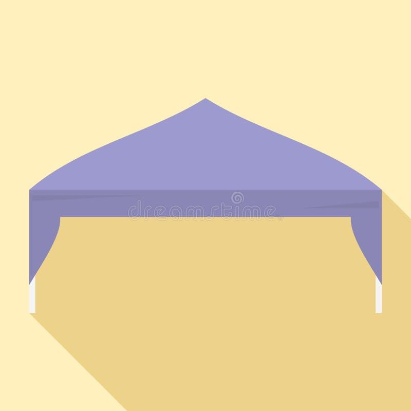 Icono comercial de la tienda, estilo plano stock de ilustración