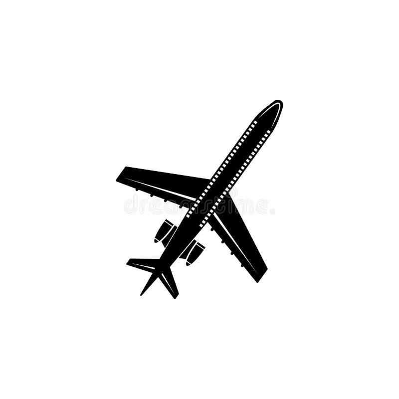 Icono comercial de los aeroplanos Elemento del icono del transporte aéreo Icono superior del diseño gráfico de la calidad Muestra libre illustration