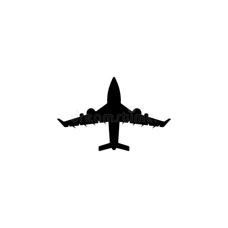 Icono comercial de los aeroplanos Elemento del icono del transporte aéreo Icono superior del diseño gráfico de la calidad Muestra ilustración del vector