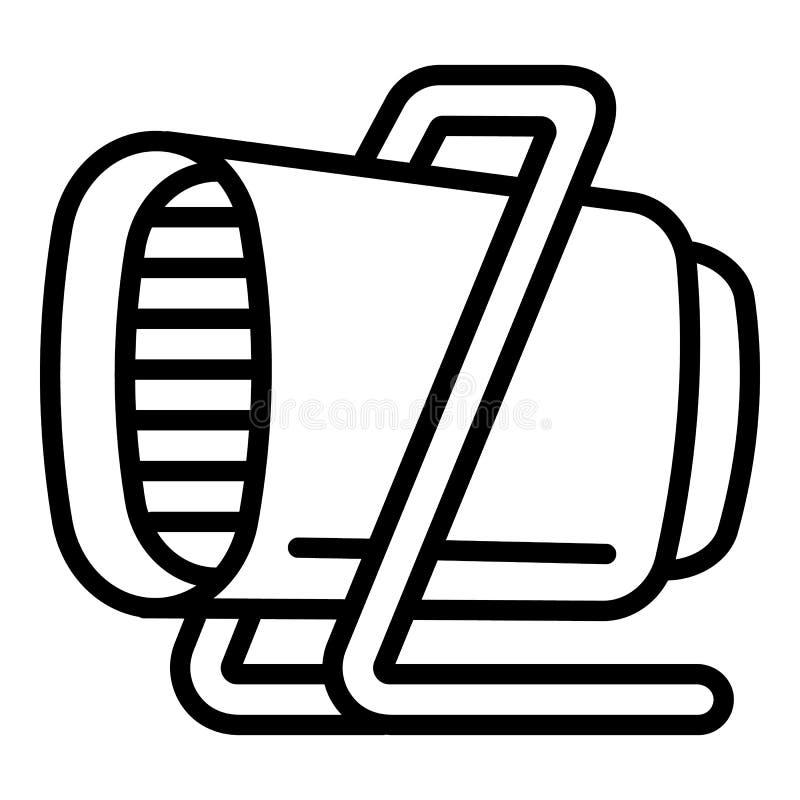 Icono comercial del calentador, estilo del esquema libre illustration