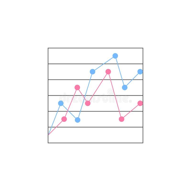 icono comparativo de la carta de punto Elemento de cartas coloreadas y de diagramas para los apps móviles del concepto y del web  stock de ilustración