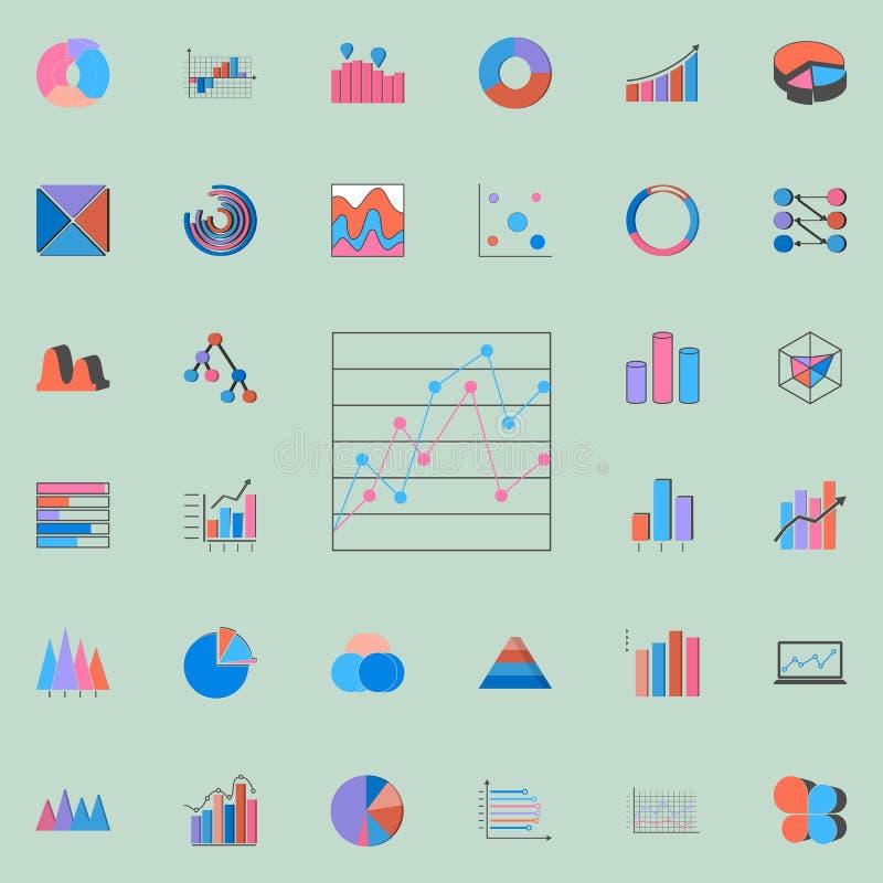 icono comparativo de la carta de punto Sistema universal de los iconos de las cartas y de Diagramms para la web y el móvil stock de ilustración