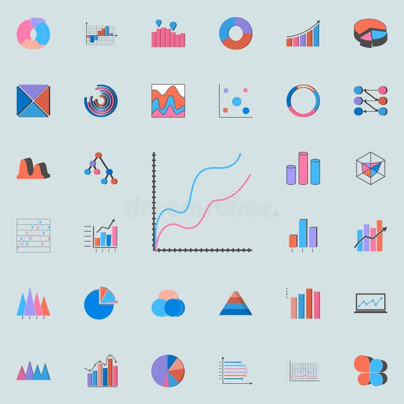 icono comparativo de la carta Sistema universal de los iconos de las cartas y de Diagramms para la web y el móvil libre illustration