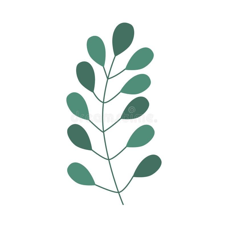 Icono completamente abstracto de la planta verde del vector stock de ilustración