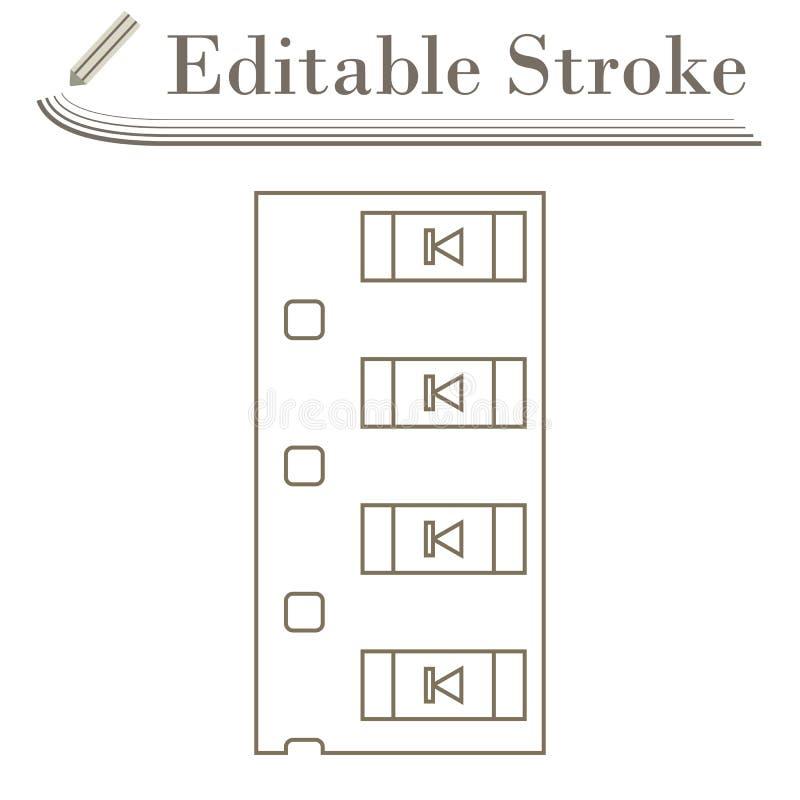 Icono componente de la cinta del smd del diodo libre illustration