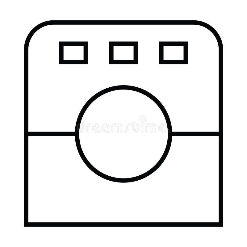 Icono con el esquema y la línea estilo stock de ilustración