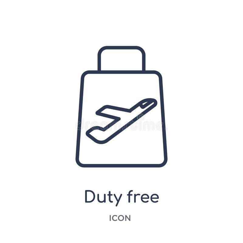 Icono con franquicia linear de la entrega y de la colección logística del esquema Línea fina vector con franquicia aislado en el  libre illustration