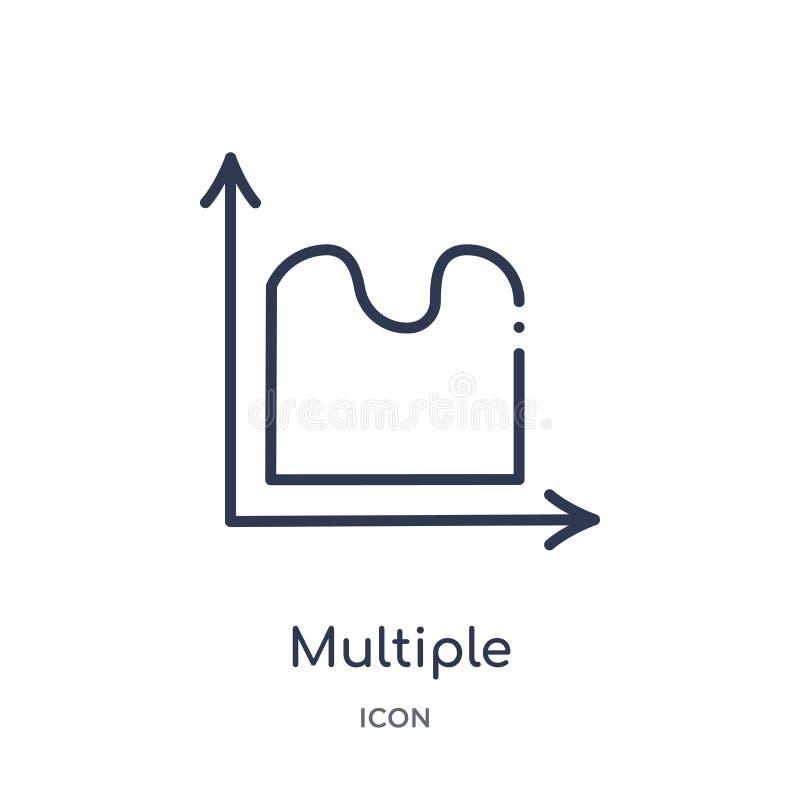 icono continuo variable múltiple de la carta de la colección del esquema de la interfaz de usuario Línea fina icono continuo vari stock de ilustración