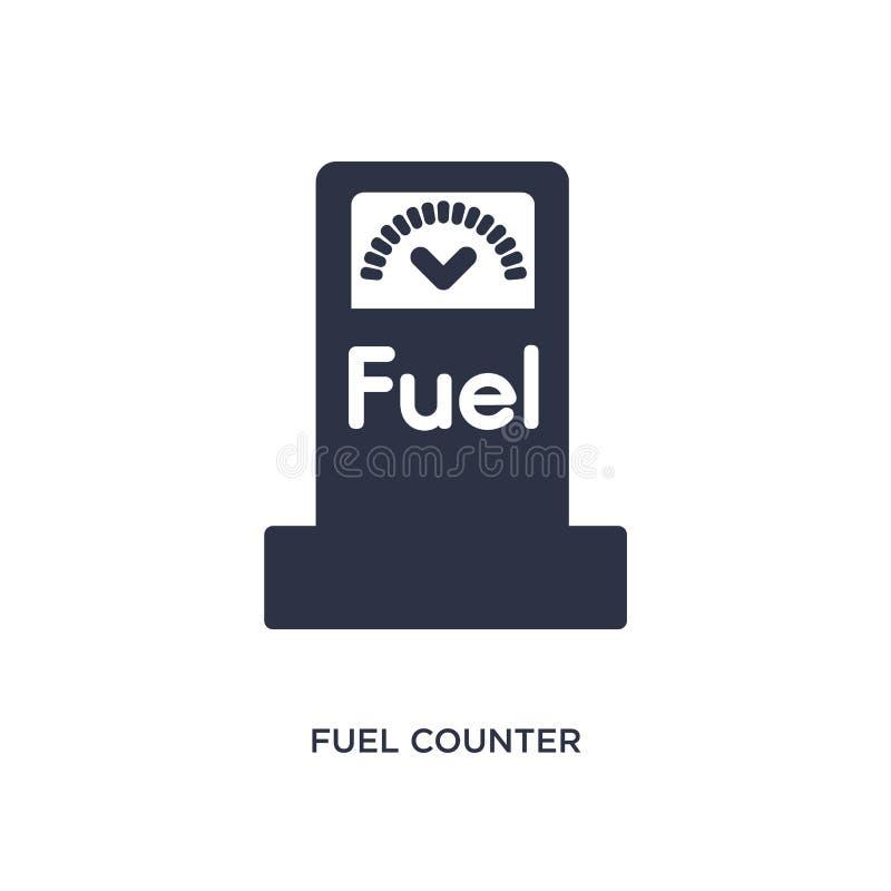 icono contrario del combustible en el fondo blanco Ejemplo simple del elemento del concepto de los mechanicons ilustración del vector