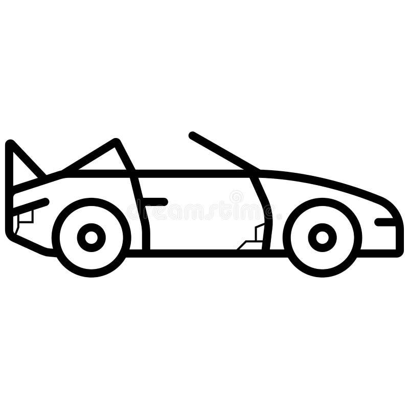 Icono convertible del coche de deportes stock de ilustración