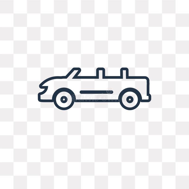 Icono convertible del vector del coche aislado en fondo transparente, stock de ilustración