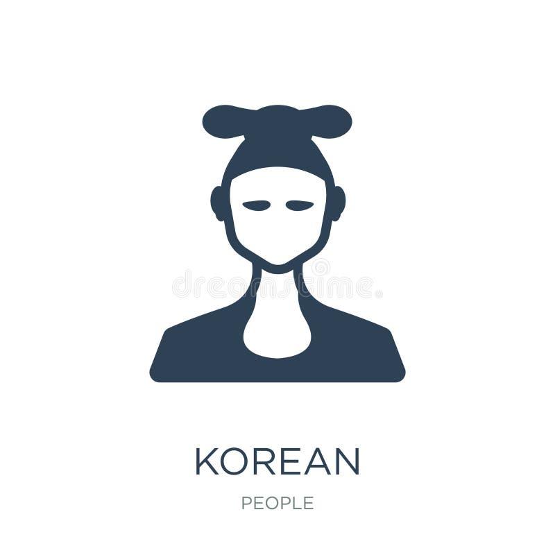 icono coreano en estilo de moda del diseño icono coreano aislado en el fondo blanco símbolo plano simple y moderno del icono core ilustración del vector