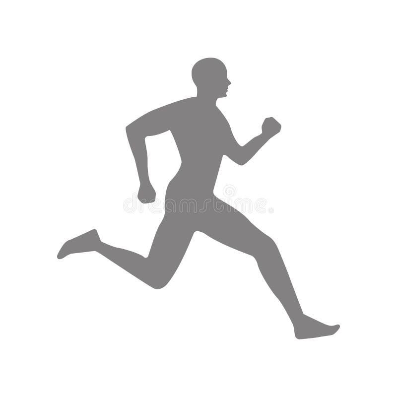 Icono corriente del carácter del atleta ilustración del vector