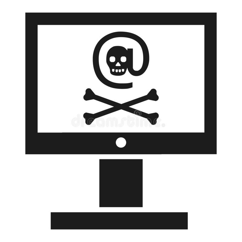 Icono cortado del ordenador, estilo simple libre illustration