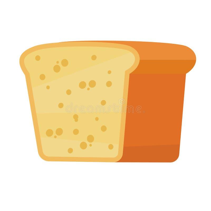 Icono cortado del pan en estilo del plano y del simle libre illustration