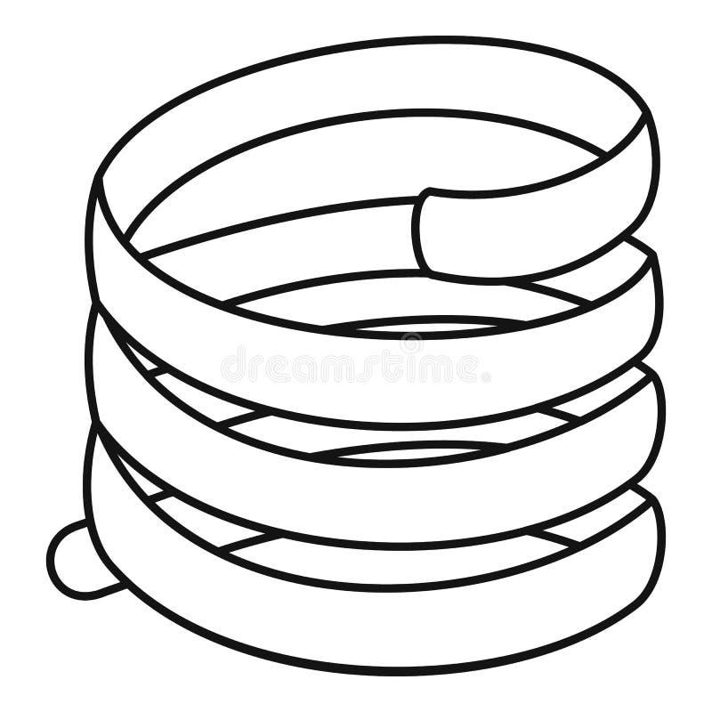 Icono corto de la bobina de la primavera, estilo del esquema libre illustration
