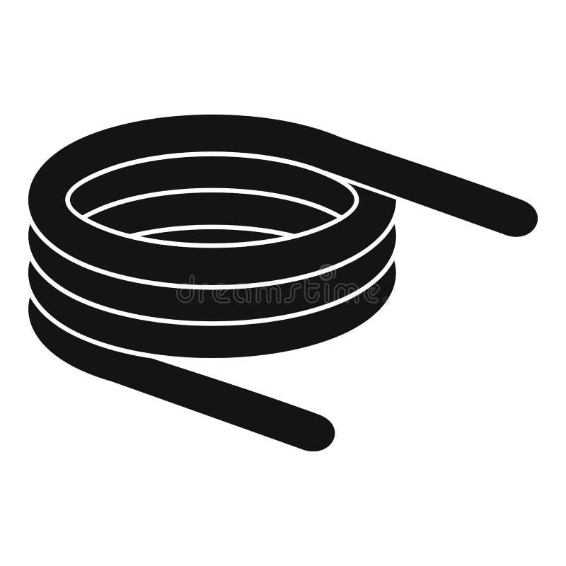 Icono corto de la bobina de la primavera, estilo simple stock de ilustración
