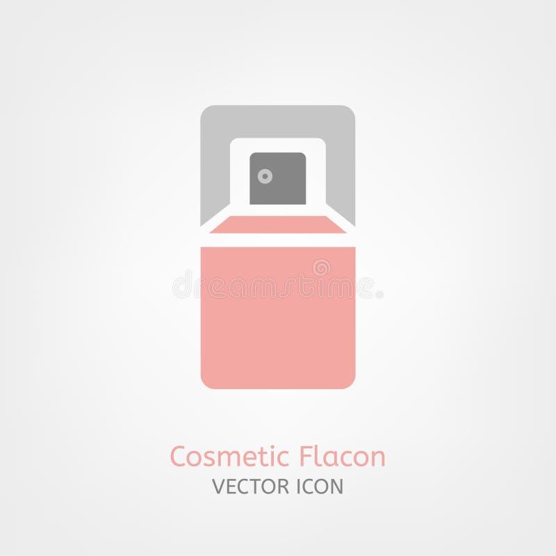 Icono cosmético de Flacon ilustración del vector