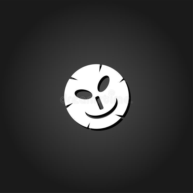 Icono cosmético de la máscara completamente ilustración del vector
