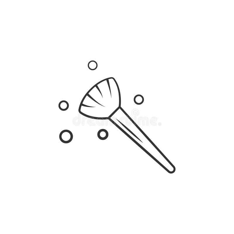 Icono cosmético del cepillo Elemento del icono del maquillaje de la mujer para los apps móviles del concepto y de la web El icono libre illustration