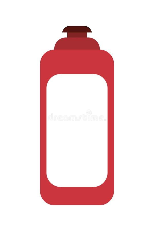 icono cosmético del frasco del producto ilustración del vector