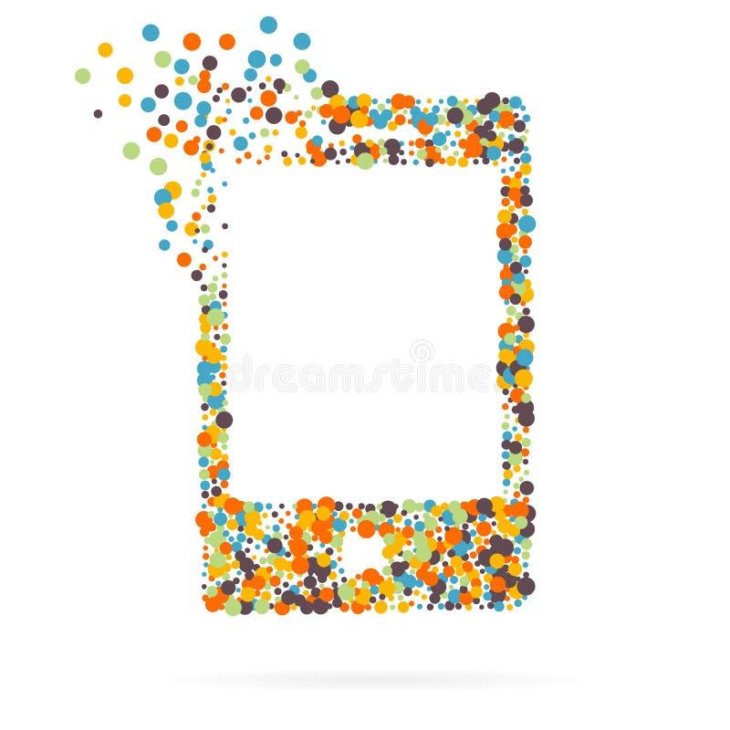 Icono creativo abstracto del vector del concepto del teléfono elegante para el web y las aplicaciones móviles aislado en fondo Ve ilustración del vector