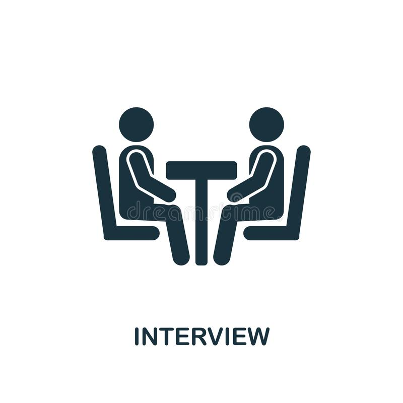 Icono creativo de la entrevista Ejemplo simple del elemento Diseño del símbolo del concepto de la entrevista de la colección de l libre illustration