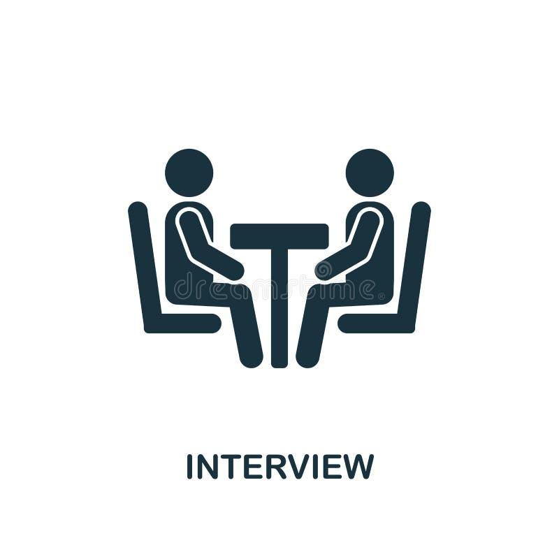 Icono creativo de la entrevista Ejemplo simple del elemento Diseño del símbolo del concepto de la entrevista de la colección de l stock de ilustración