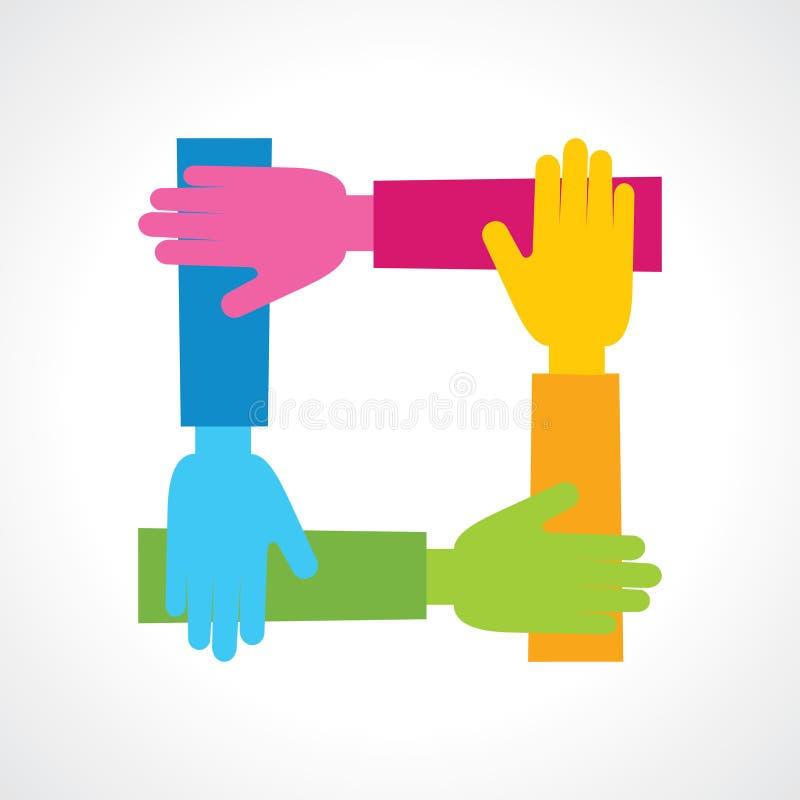Icono creativo de la mano stock de ilustración
