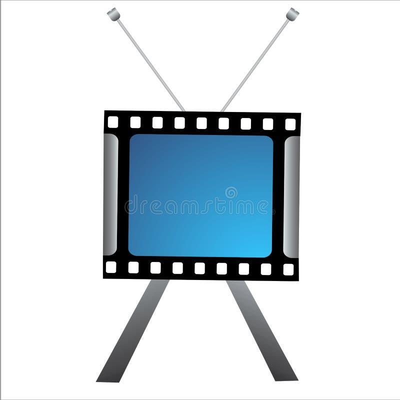 Icono creativo de la TV stock de ilustración