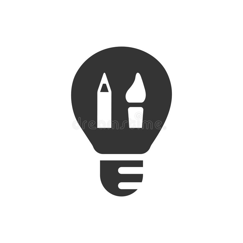 Icono creativo del diseño gráfico libre illustration