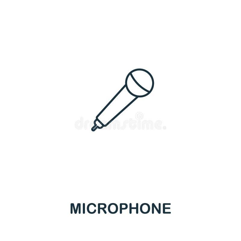 Icono creativo del micrófono Ejemplo simple del elemento Diseño del símbolo del concepto del micrófono de la colección de los bot ilustración del vector