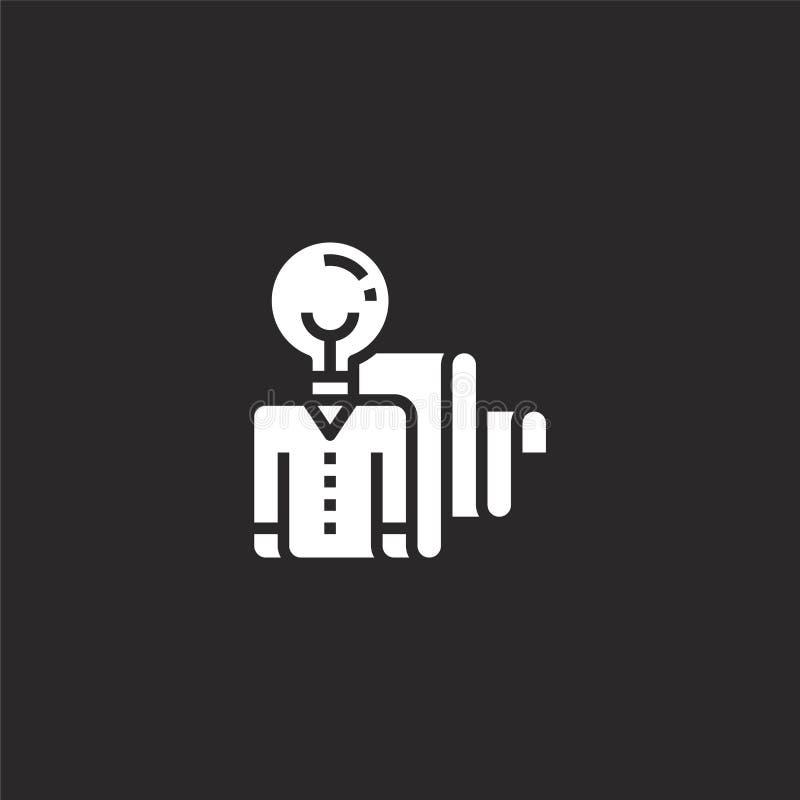 Icono creativo Icono creativo llenado para el diseño y el móvil, desarrollo de la página web del app icono creativo de la gestión ilustración del vector